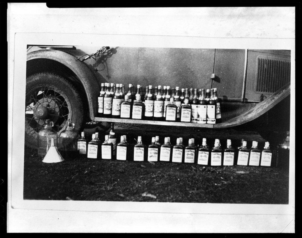 Confiscated liquor, Cottonwood Falls, Kansas - 3
