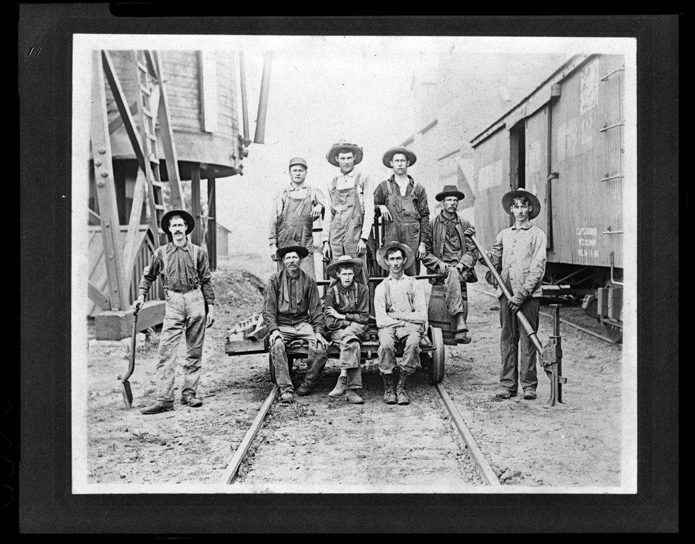 Union Pacific Railroad Company's section crew, Belleville, Kansas