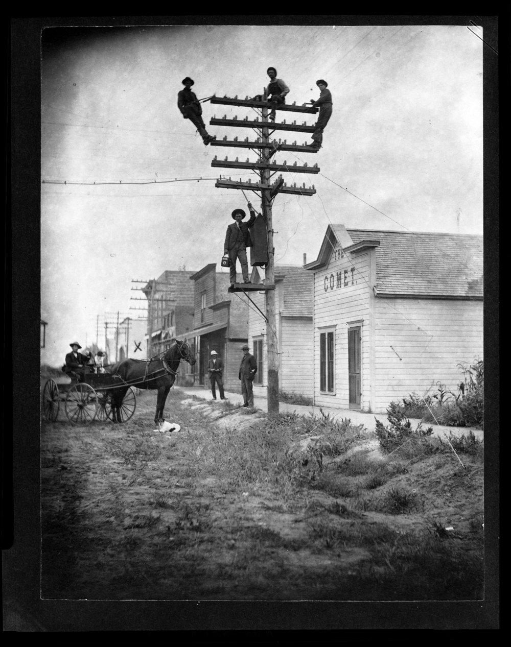 Telephone linemen, Courtland, Kansas