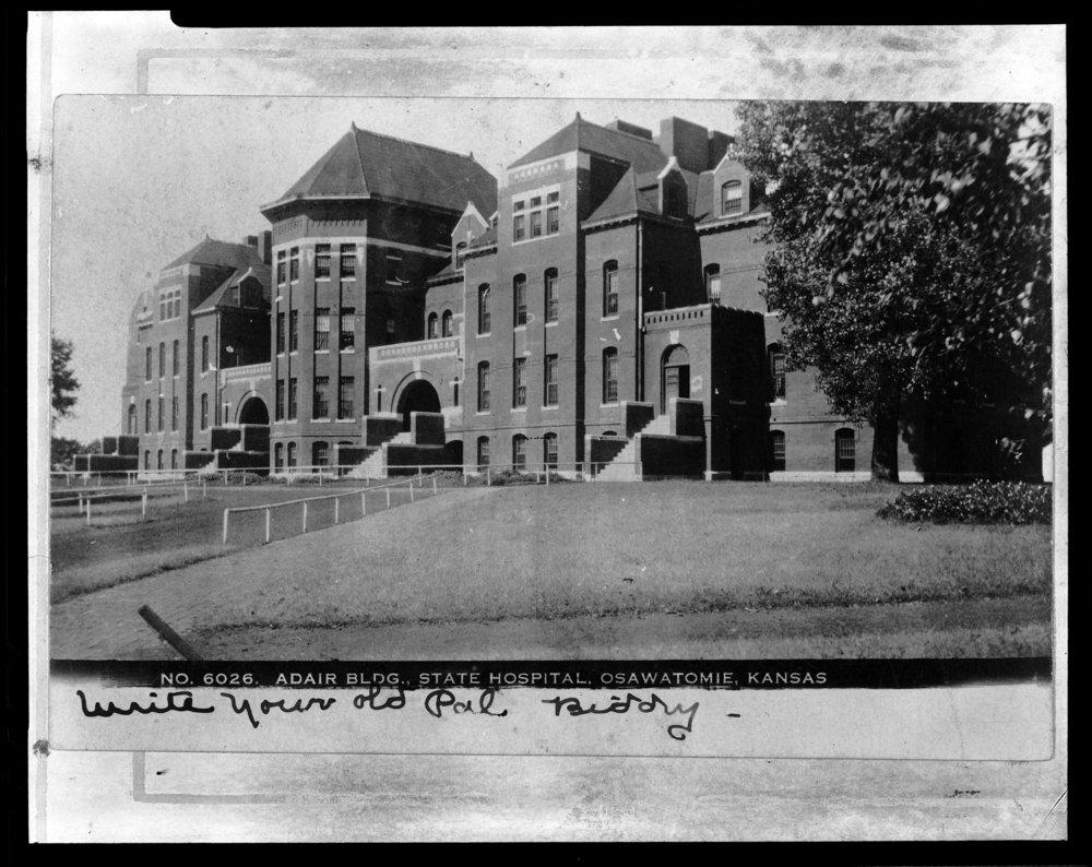 Adair building at the Osawatomie State Hospital, Osawatomie, Kansas