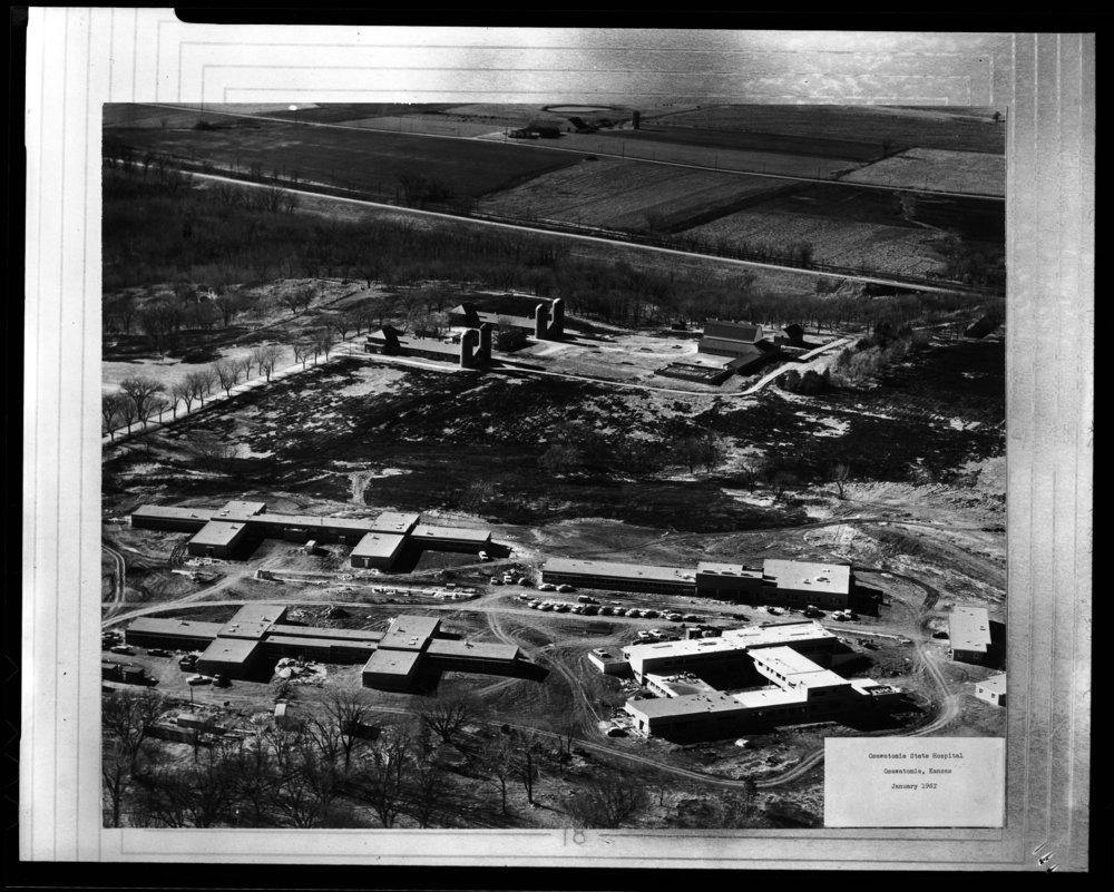 Aerial views of the Osawatomie State Hospital in Osawatomie, Kansas - 1