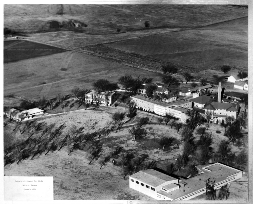 Aerial view of the Industrial School for Girls, Beloit, Kansas