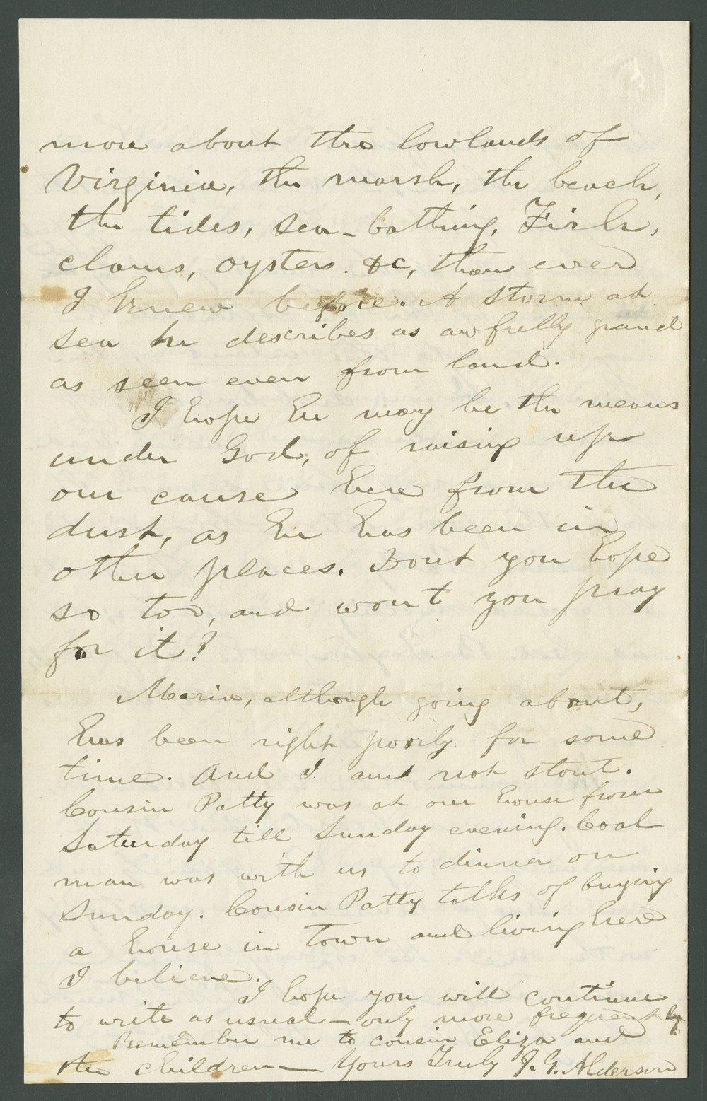 J. G. Alderson to Lewis Allen Alderson - 4