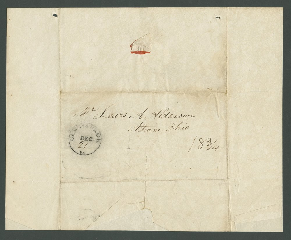 John M. Alderson to Lewis Allen Alderson - 2