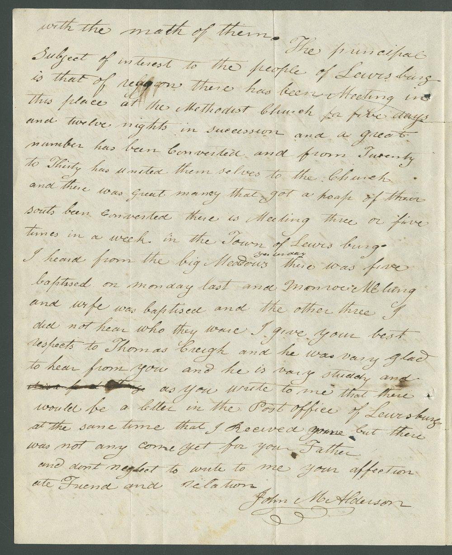 John M. Alderson to Lewis Allen Alderson - 4