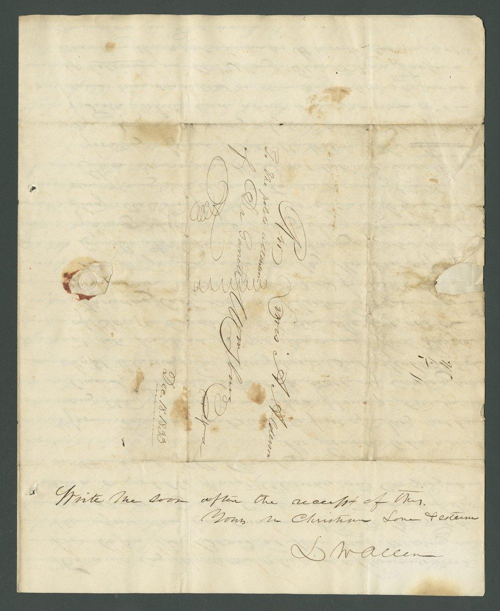L. W. Allen to Lewis Allen Alderson - 4