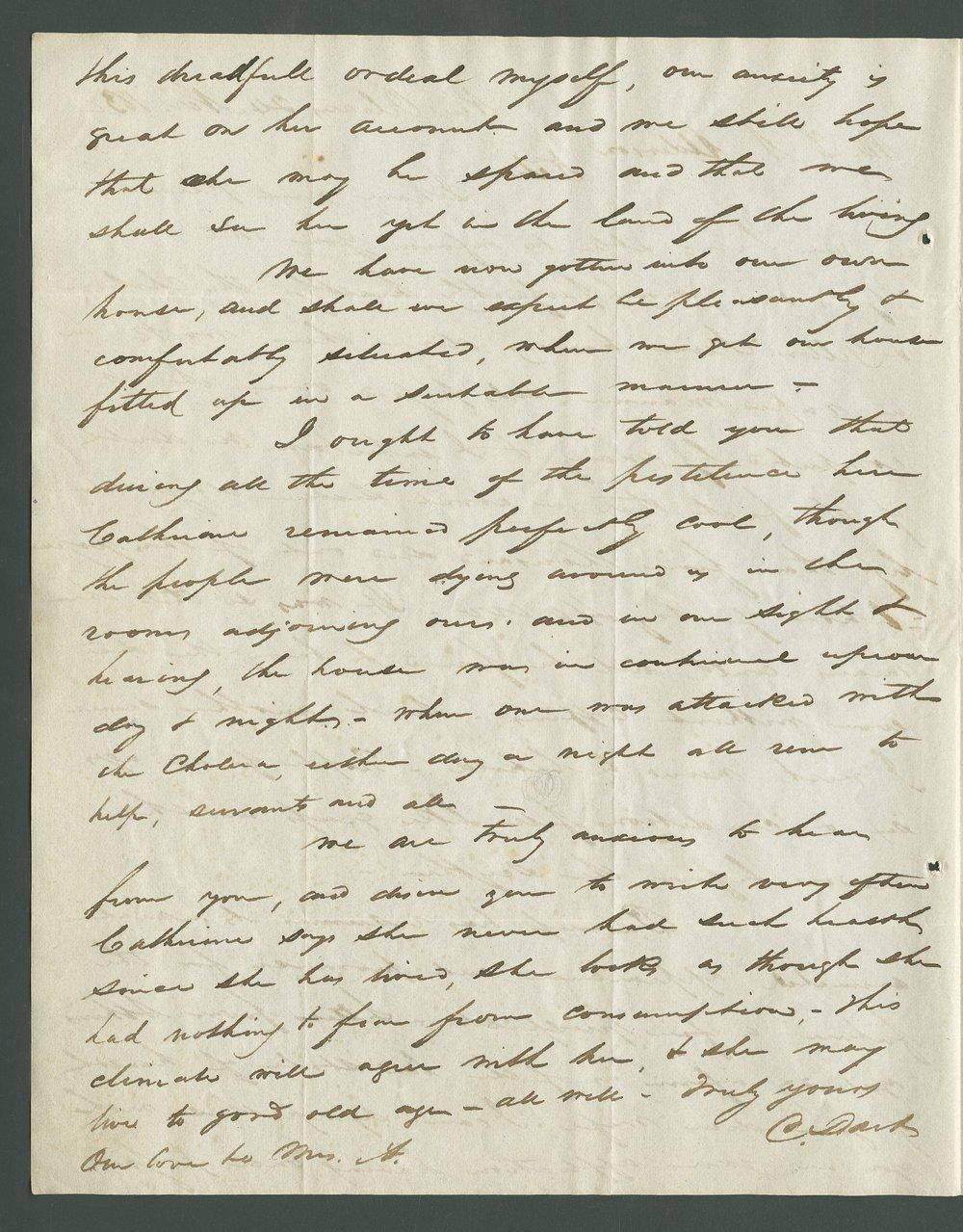 Catherine B. Dart to Lewis Allen Alderson - 12