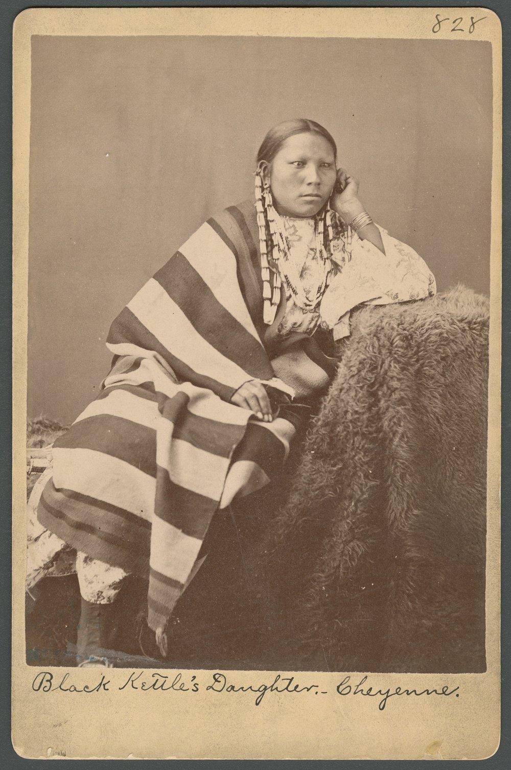 Black Kettle's daughter, Cheyenne, in Indian Territory - 1