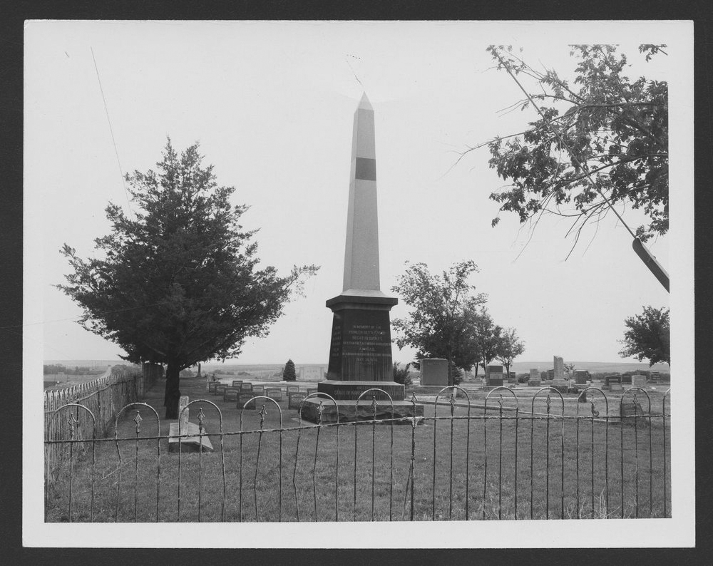 Monument for the victims of the Last Indian Raid in Kansas - 1