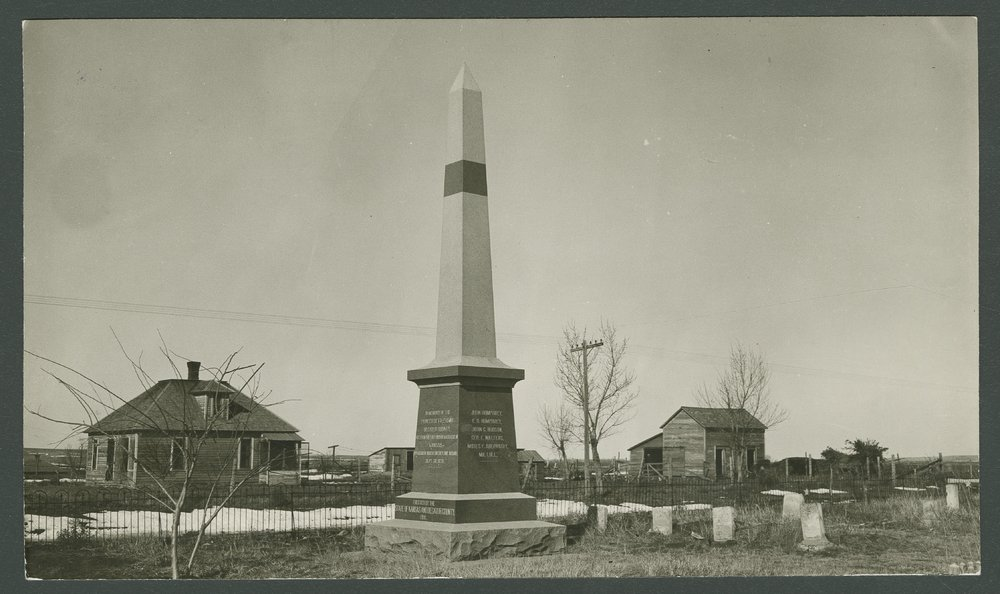 Monument for the victims of the Last Indian Raid in Kansas - 3