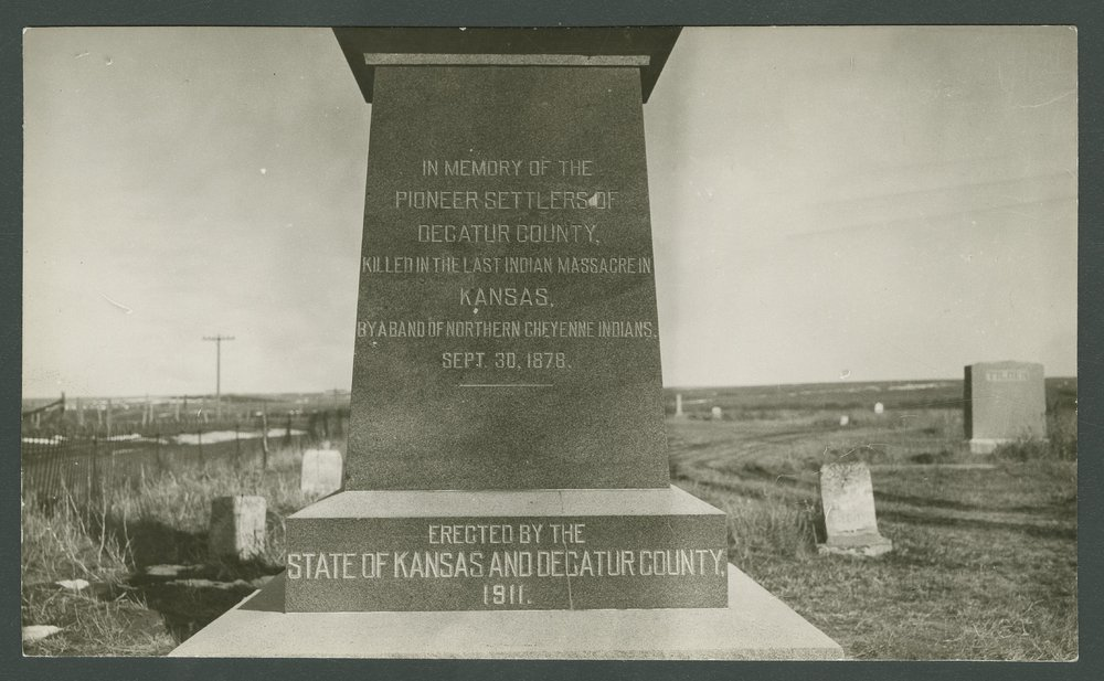 Monument for the victims of the Last Indian Raid in Kansas - 7