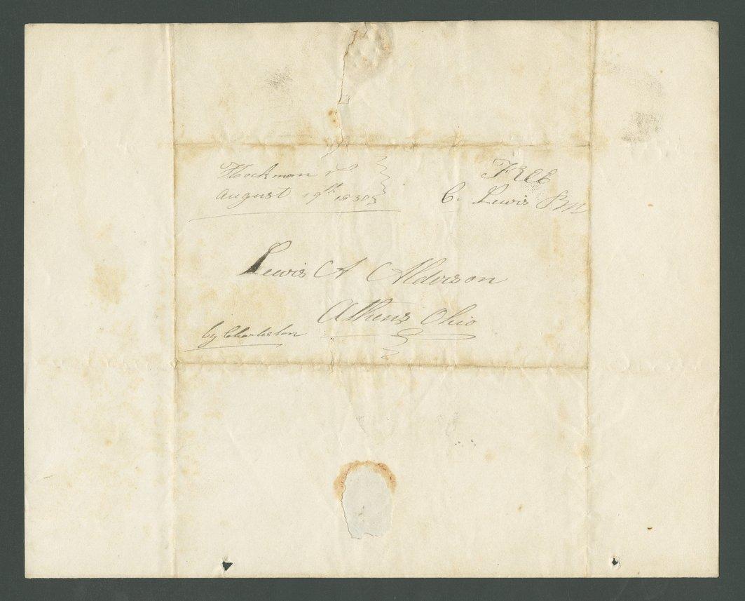Charles Lewis to Lewis Allen Alderson - 2