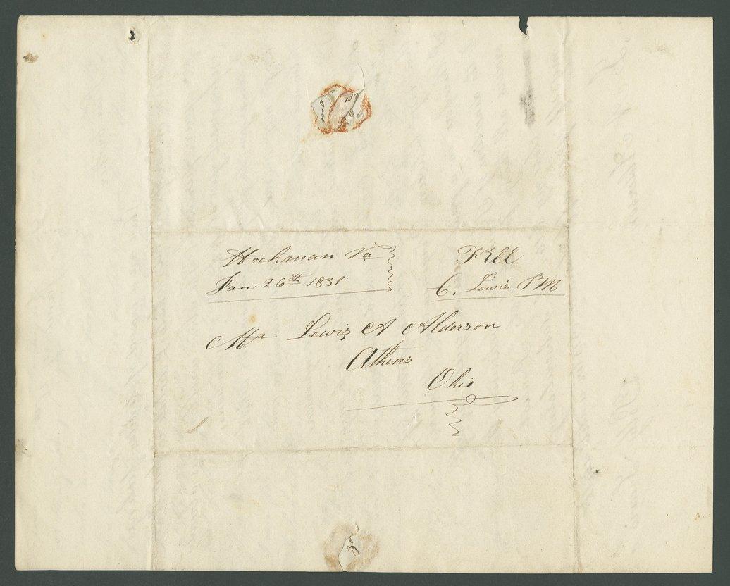 Charles Lewis to Lewis Allen Alderson - 9