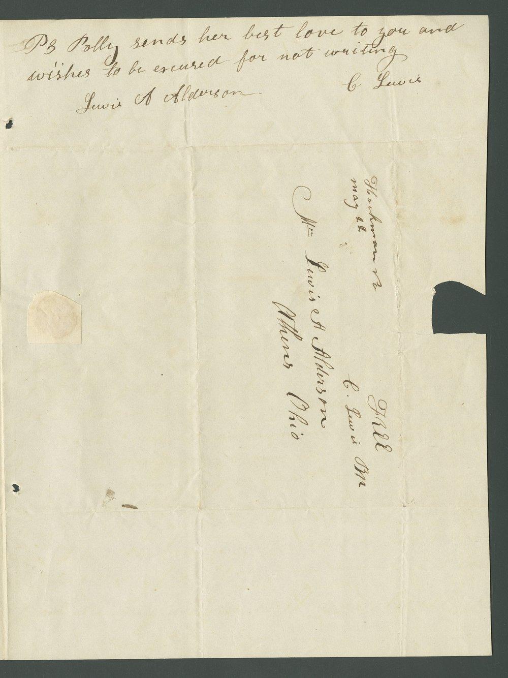 Charles Lewis to Lewis Allen Alderson - 23