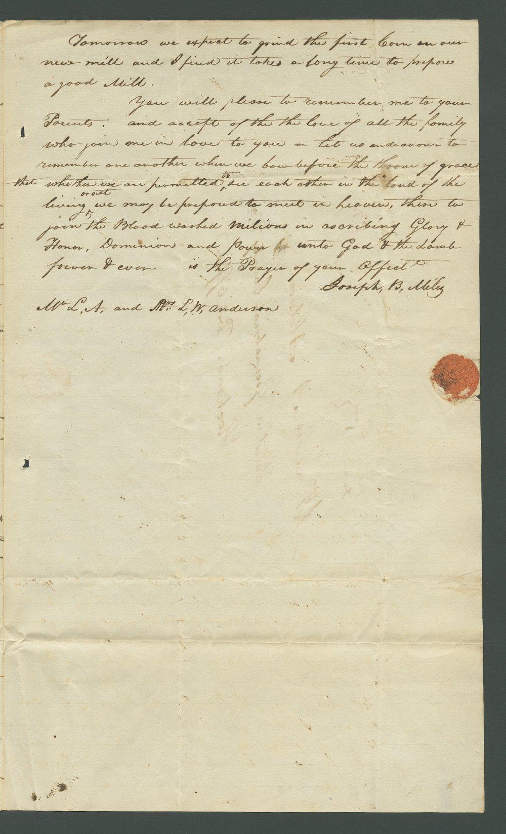 Joseph B. Miles to Lewis Allen Alderson - 6