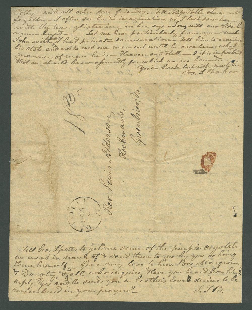 Joseph L. Baker to Lewis Allen Alderson - 4