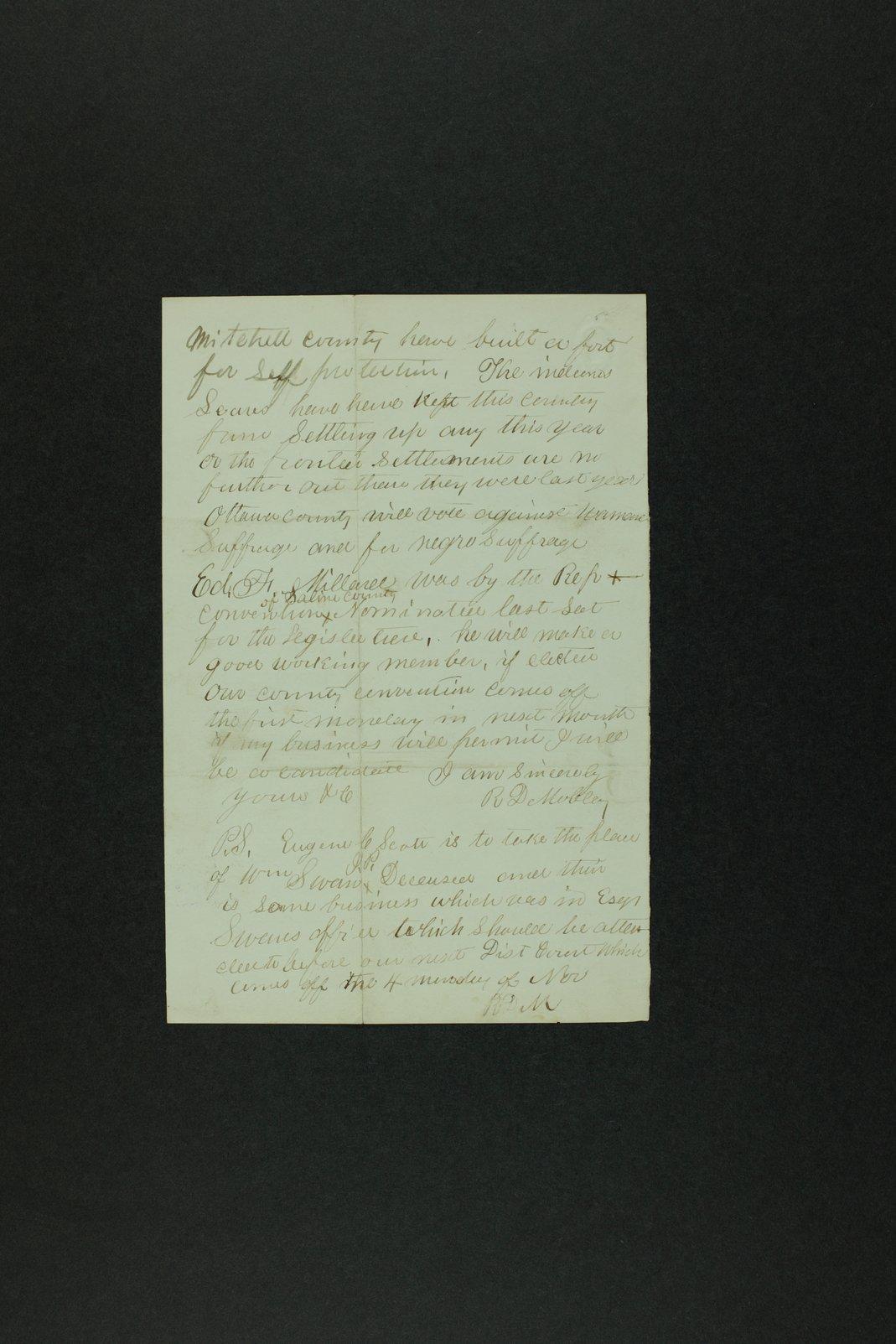 Governor Crawford Indian correspondence - 3