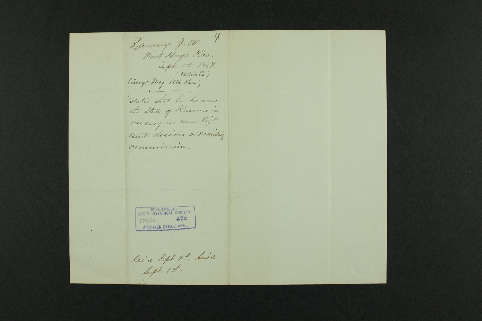 Governor Crawford Indian correspondence - 5