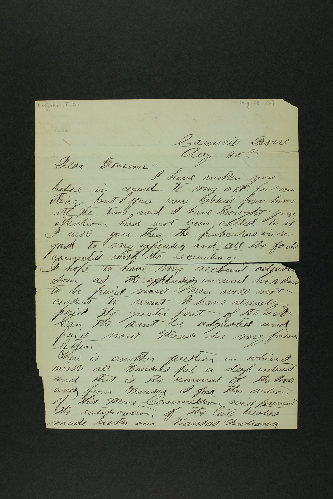 Governor Crawford Indian correspondence - 6