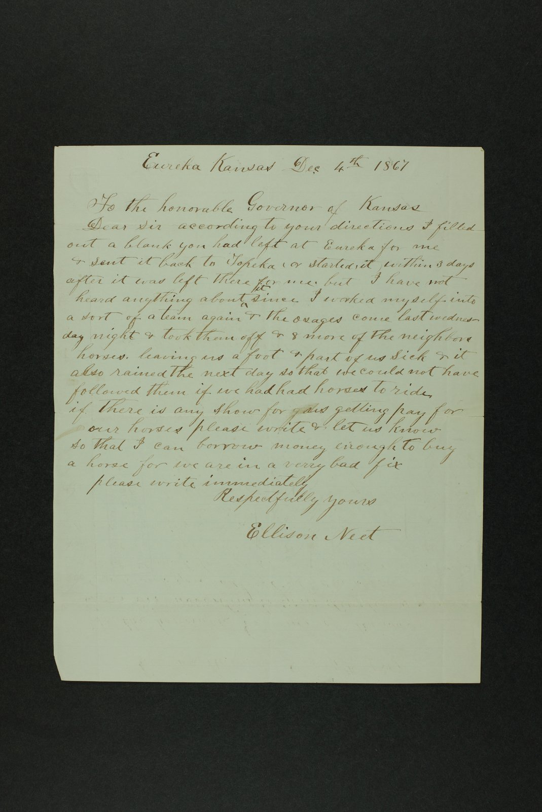 Governor Crawford Indian correspondence - 9