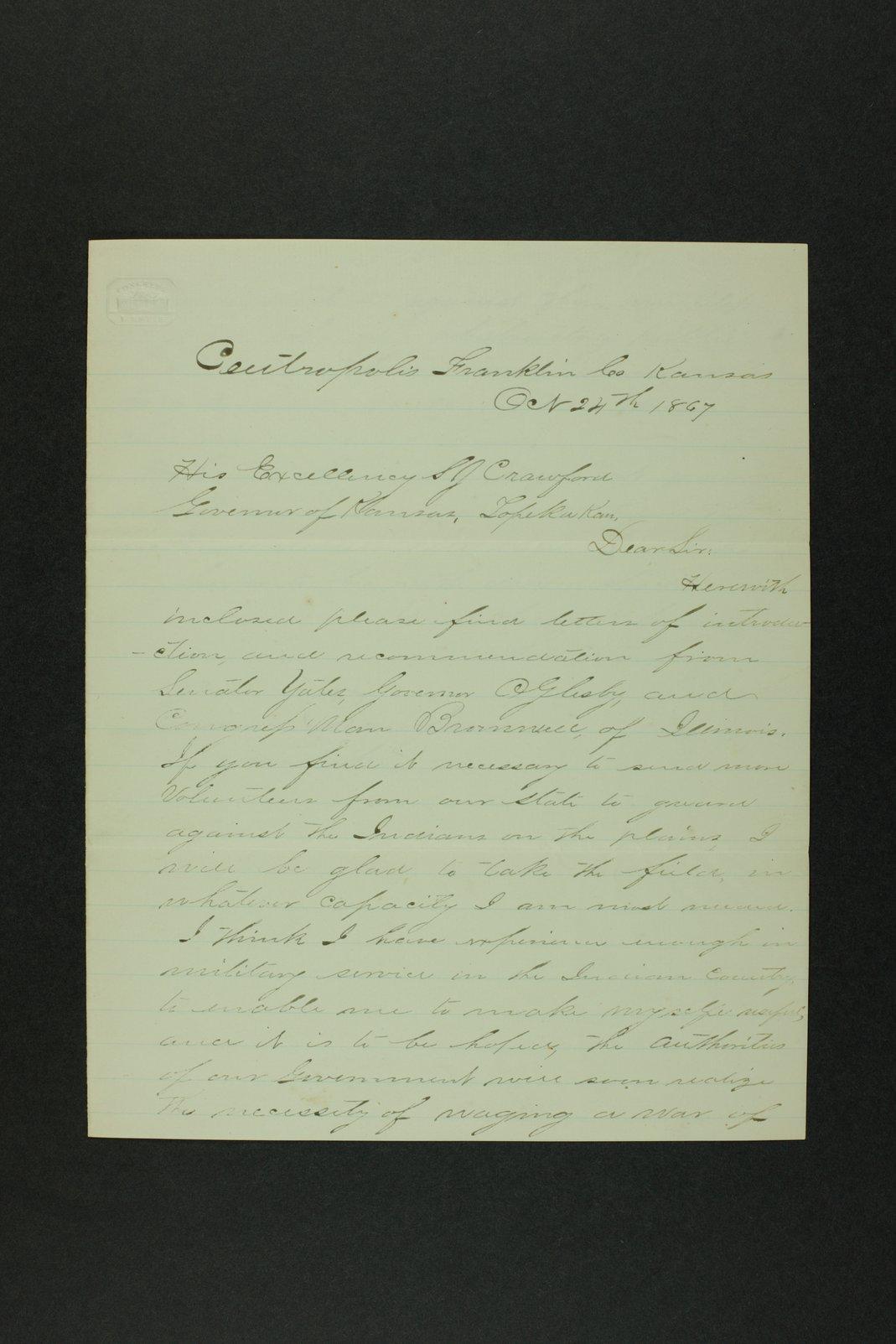 Governor Crawford Indian correspondence - 11