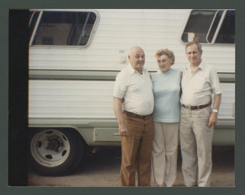 Leonard Baker, Norma Chaffin Baker, and Leland Workman - 1