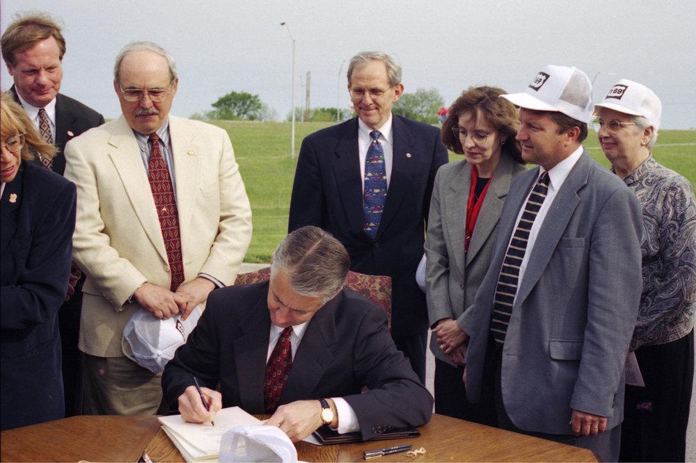 Governor Graves signing the Comprehensive Transportation Program bill