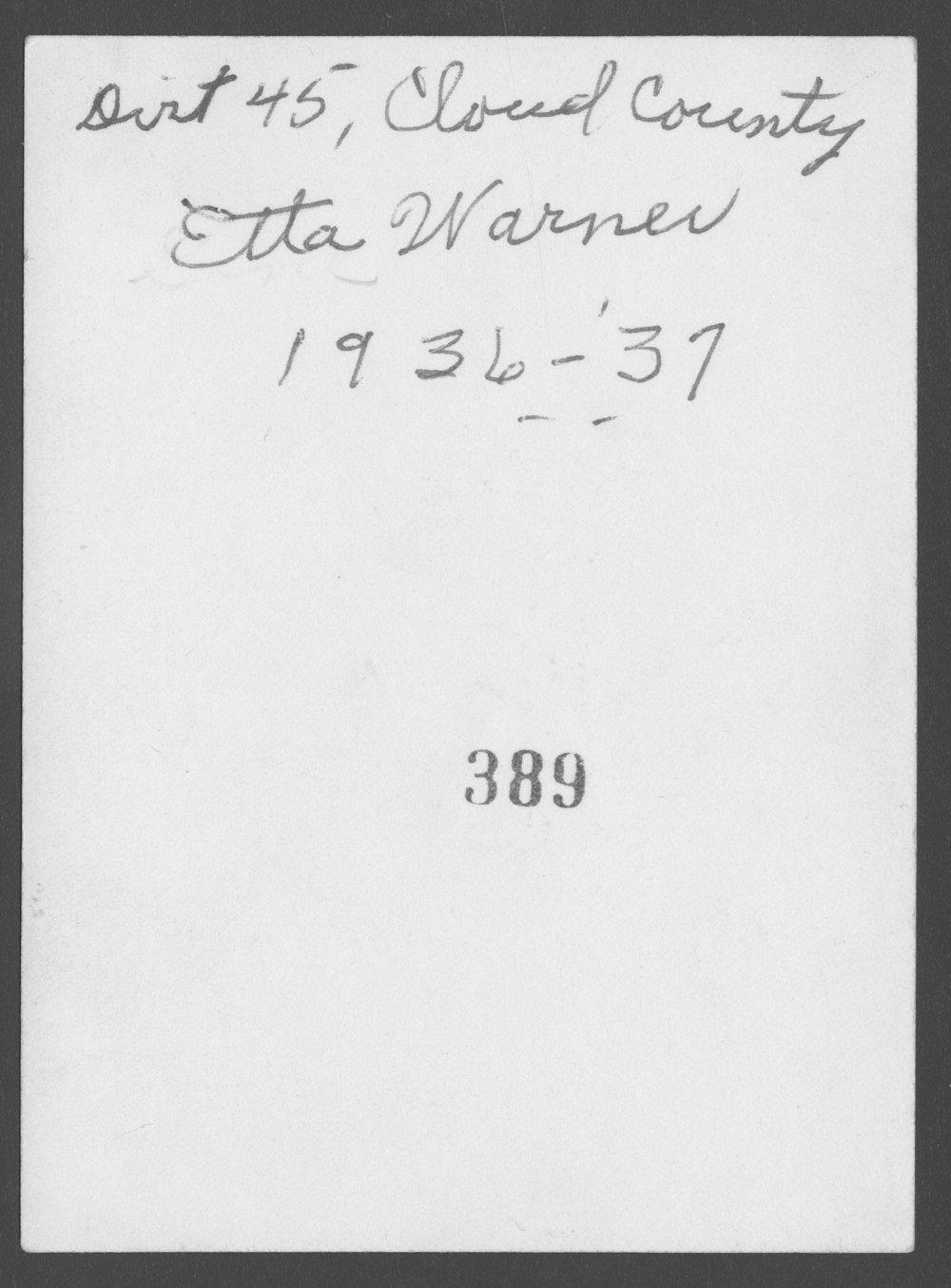 Etta Warner - 2