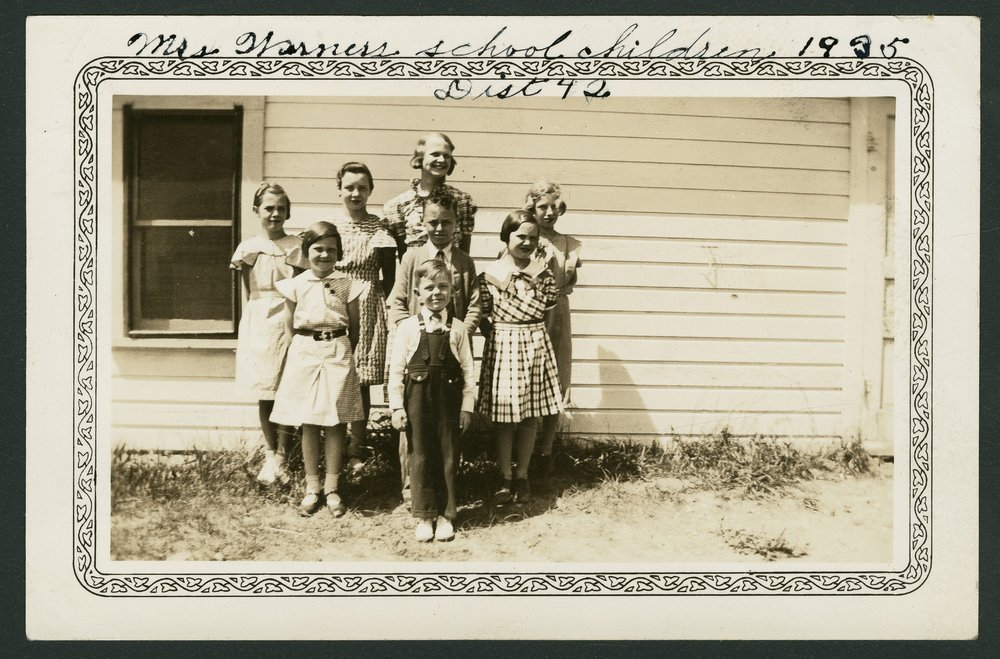 Students at Prairie View School, District 42, Cloud County, Kansas - 3