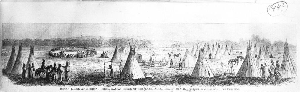 Indian lodge at Medicine Creek, Kansas