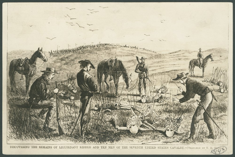 Discovering the remains of Lieutenant Kidder and ten men of the Seventh United States Cavalry - 1