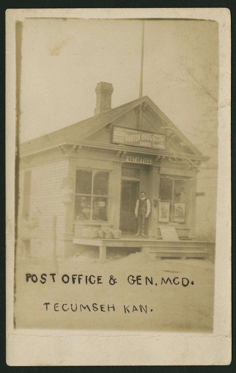 Bergman's general store and post office in Tecumseh, Kansas
