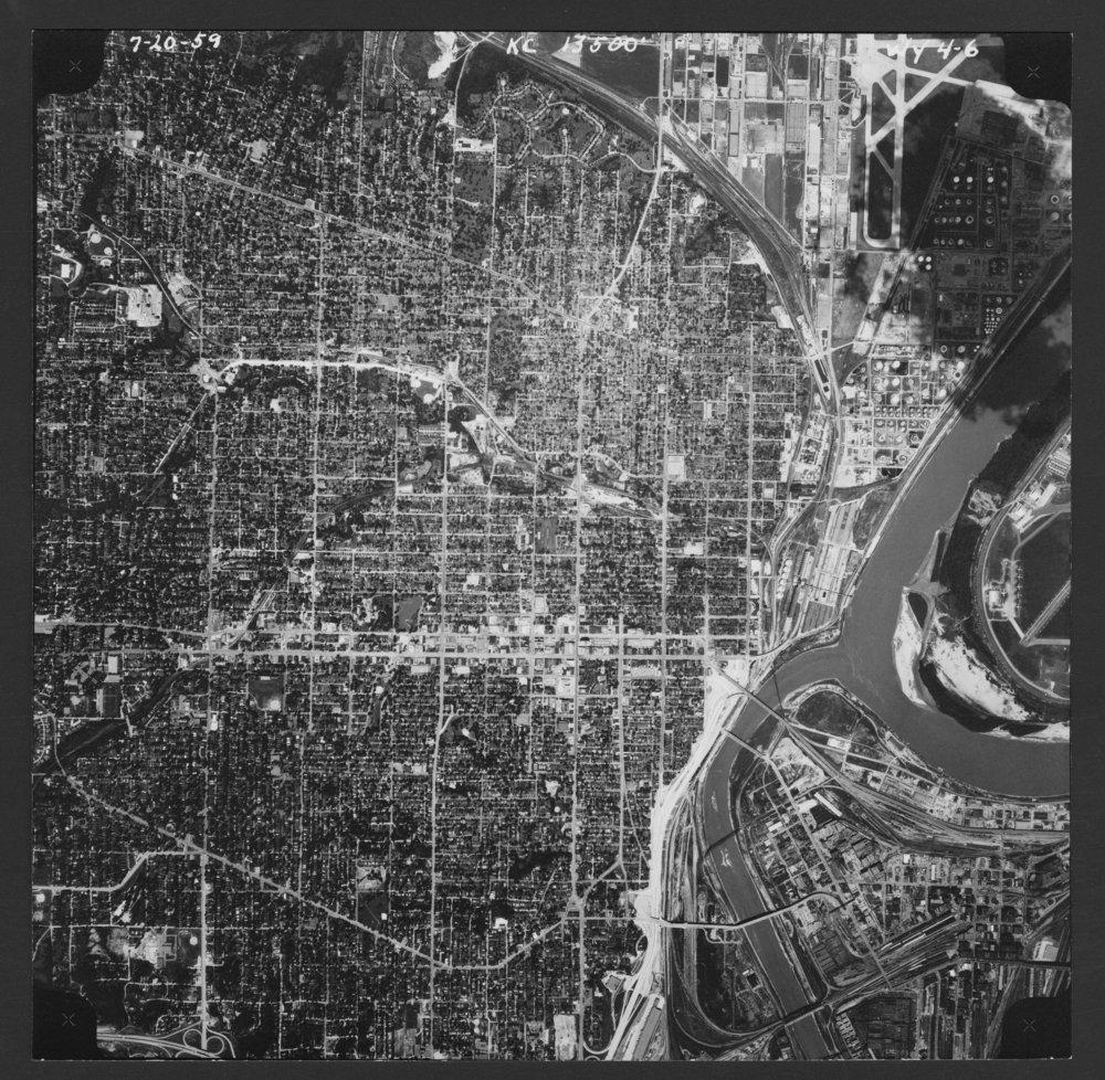 Aerial view of Kansas City, Kansas