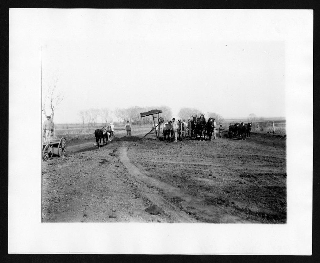 Road construction, Sedgwick County, Kansas - 1