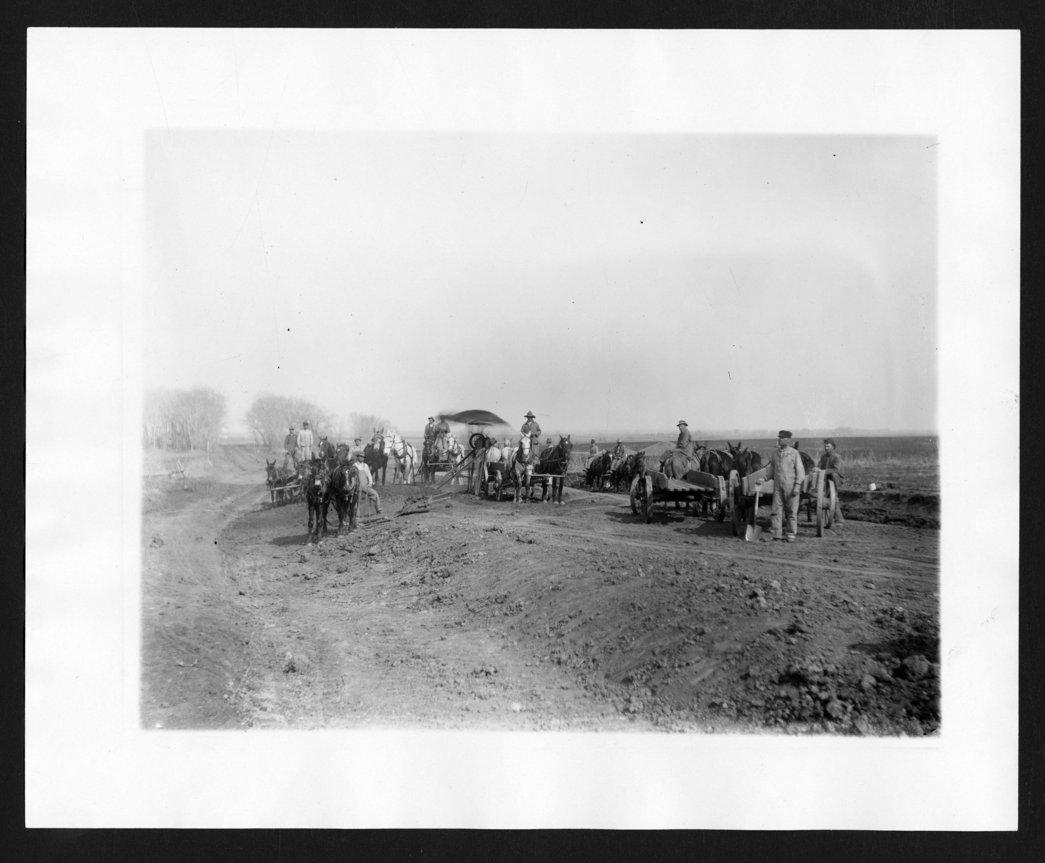 Road construction, Sedgwick County, Kansas - 2