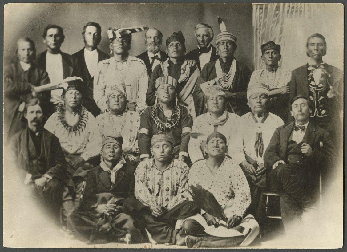 Second Delegation of Osage Indians, Lawrence, Kansas - 1