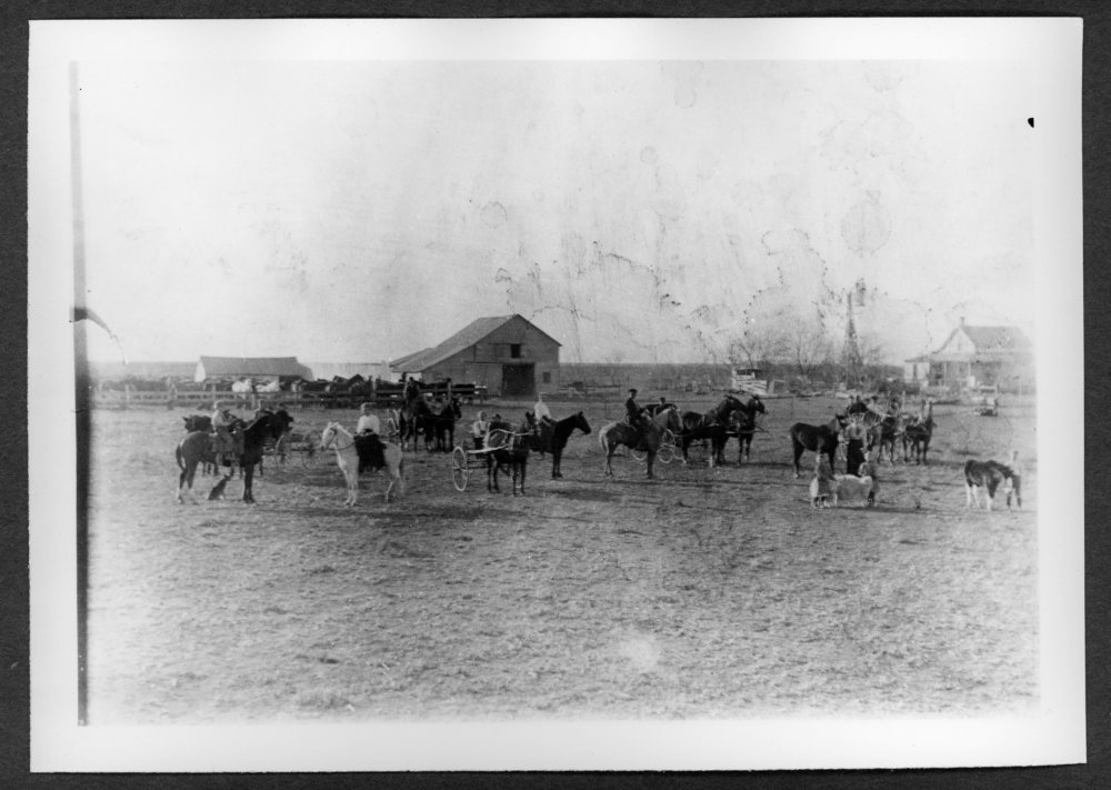 Scenes of Sherman County, Kansas - Henry J. Piper farm, 1 3/4 miles north of 8th and Cattletrail.