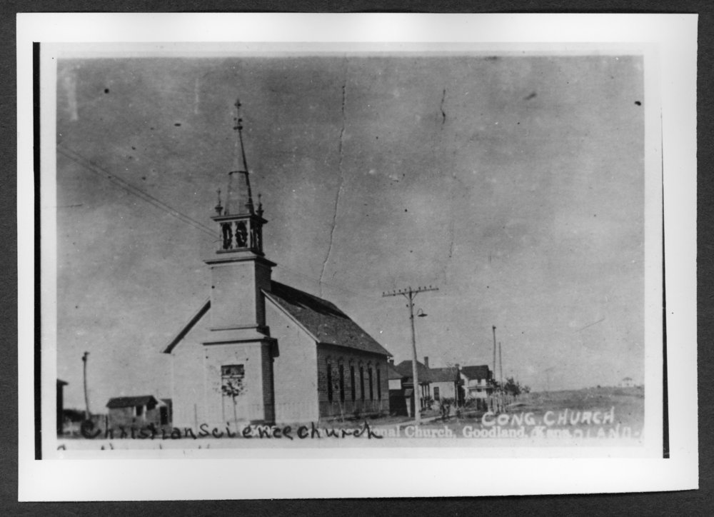 Scenes of Sherman County, Kansas - Christian Science Church, 10th and Broadway.