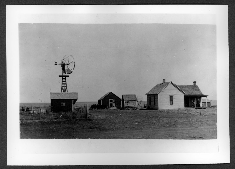 Scenes of Sherman County, Kansas - James A. Horney farm, 1904.
