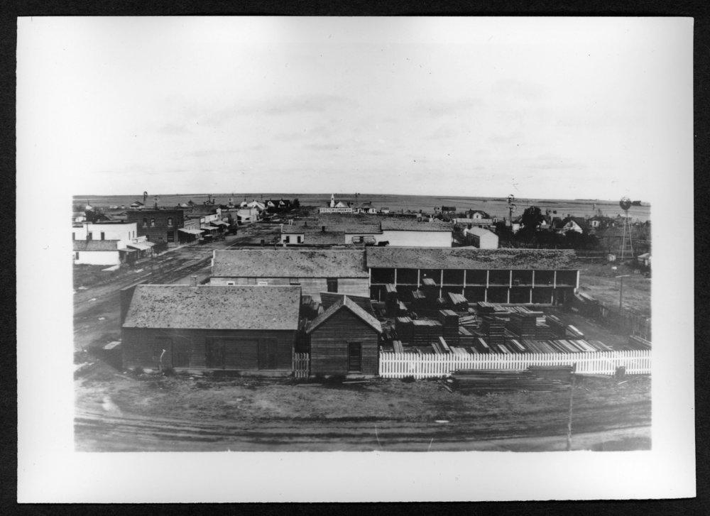 Scenes of Sherman County, Kansas - Panoramic view of Kanorado, Kansas,
