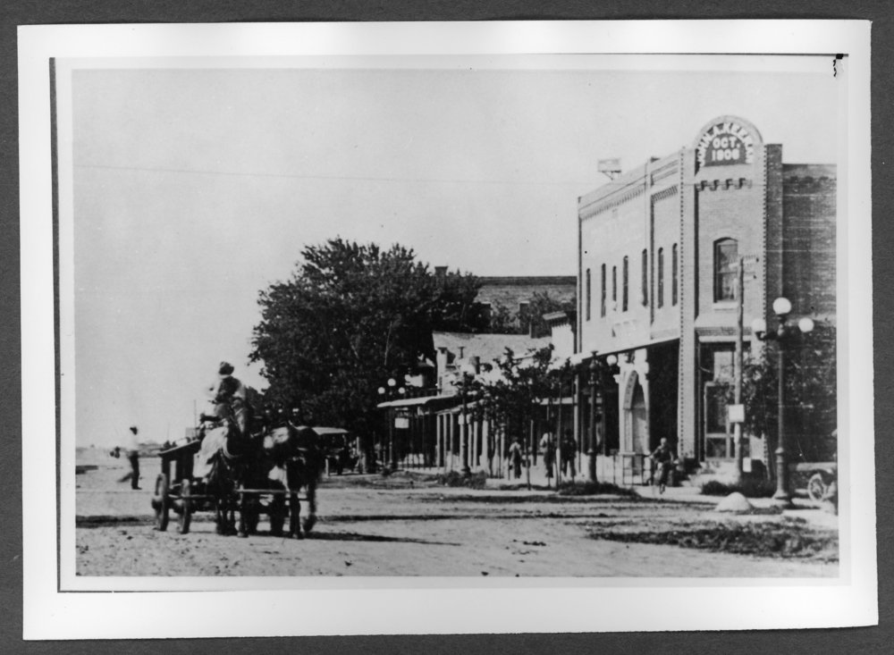 Scenes of Sherman County, Kansas - Goodland street scene about 1918.