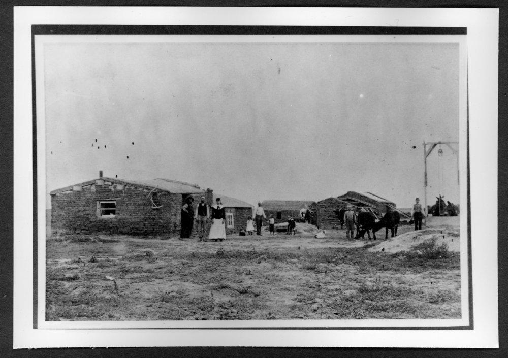 Scenes of Sherman County, Kansas - Homestead of Ed Bartlett, six miles southeast of Kanorado, Kansas, about 1885.