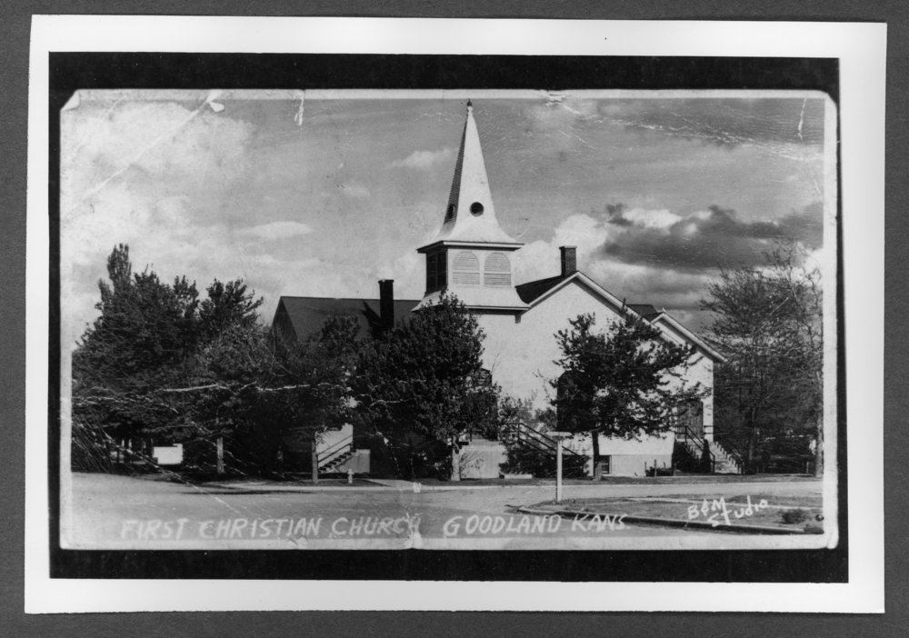 Scenes of Sherman County, Kansas - First Christian Church on the southeast corner of 11th and Broadway.