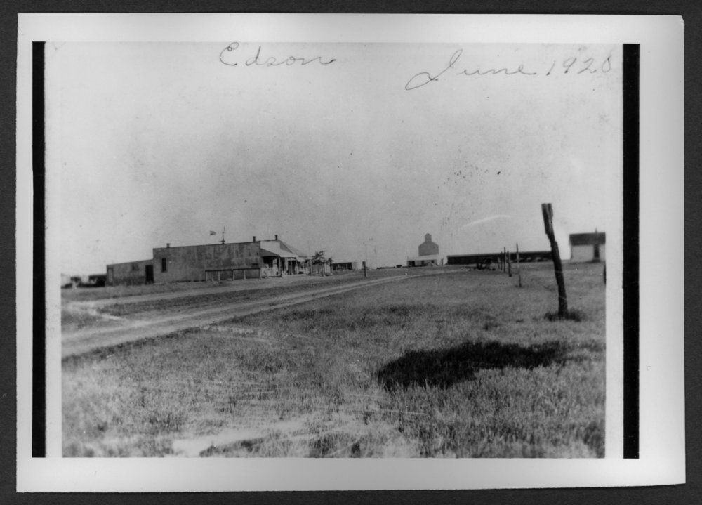 Scenes of Sherman County, Kansas - A photograph of Edson, Kansas, June 1920.