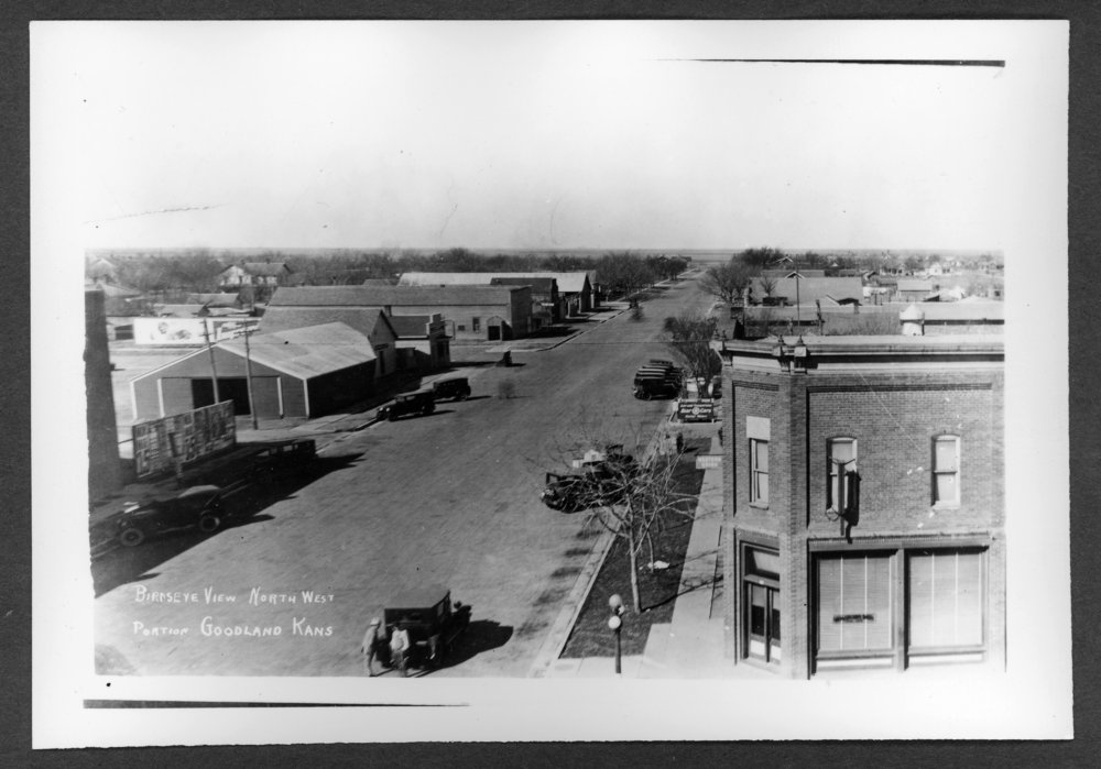 Scenes of Sherman County, Kansas - Looking west from 10th and Main.