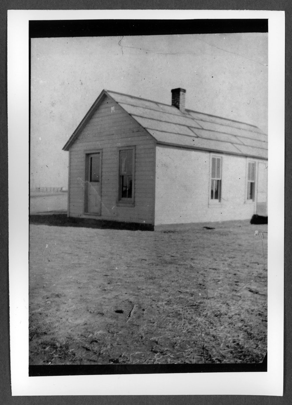 Scenes of Sherman County, Kansas - First home of Verne and Ellen Chambers, later made into the Edson, Kansas, post office.