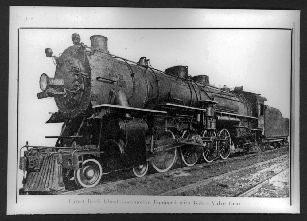 Scenes of Sherman County, Kansas - Rock Island engine, 4000 class, 4-8-2 passenger engine,