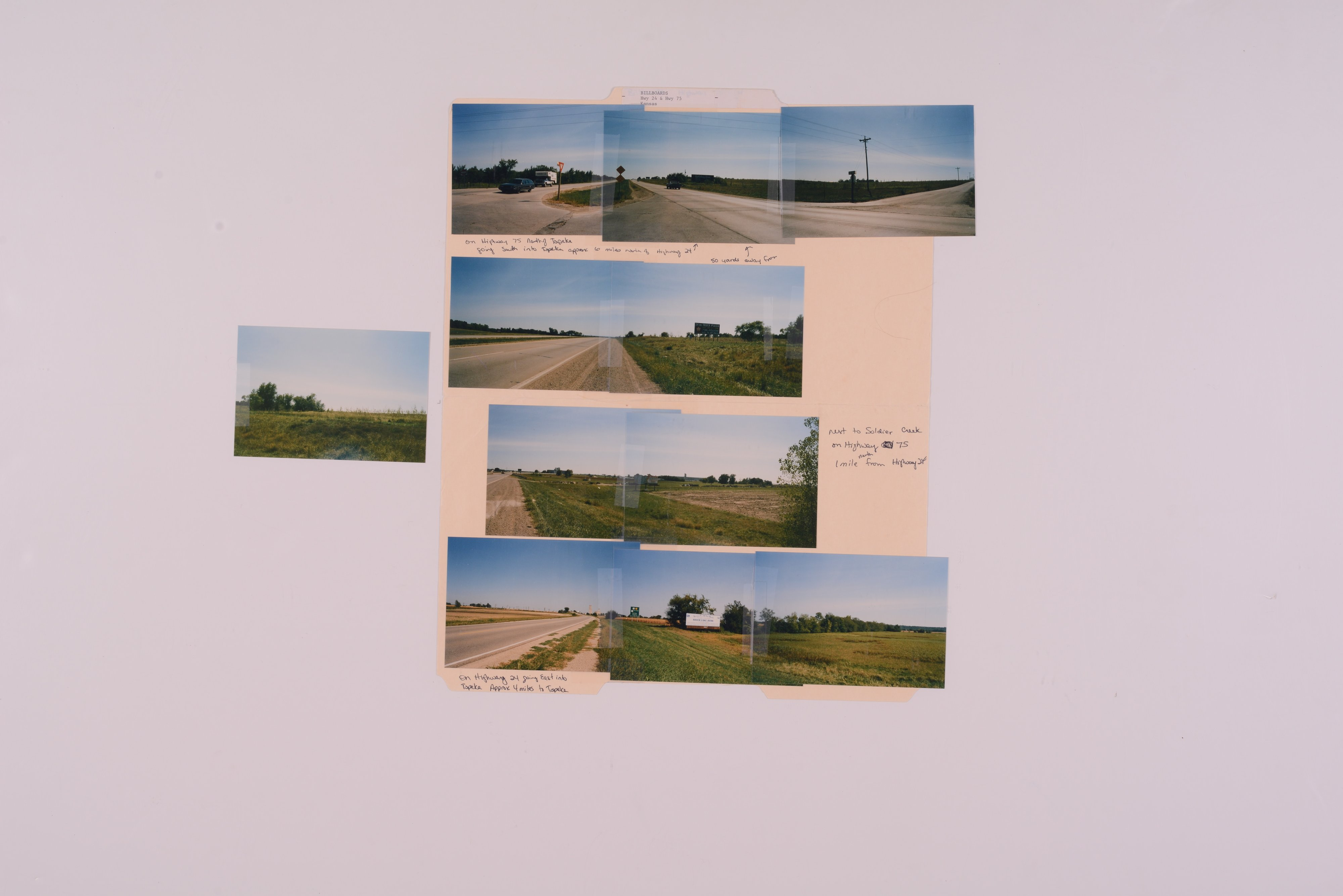 Kansas Film Commission site photographs, subject highway signs - hospitals - 8