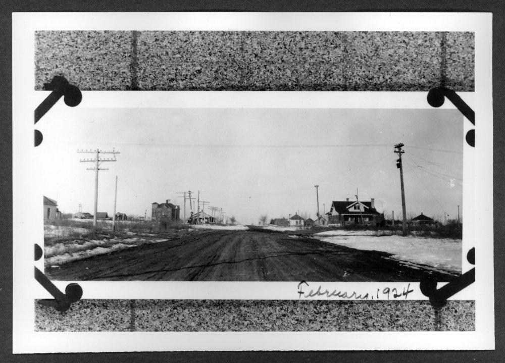 Scenes of Sherman County, Kansas - Looking west on 8th Street, 1924.