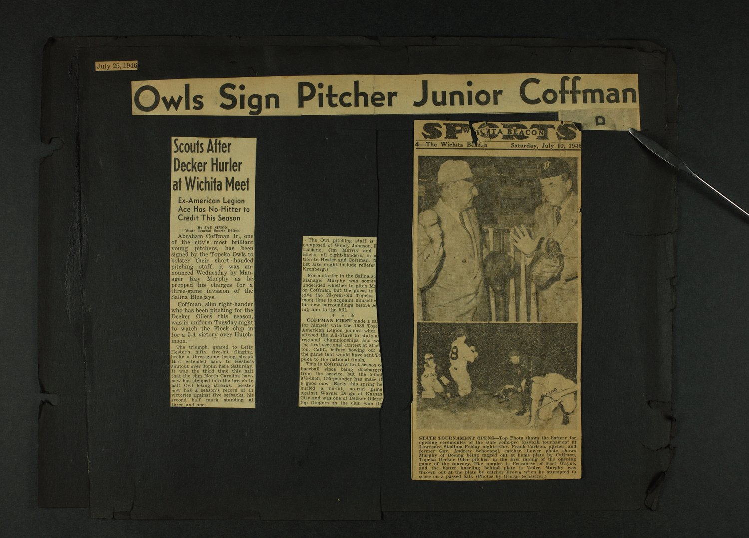 Coffman baseball scrapbooks - 7